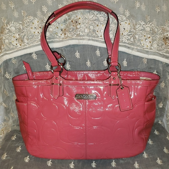 Coach Handbags - Coach Gallery Embossed Patent Leather Zip Tote